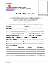 Belize Diesel Application Form